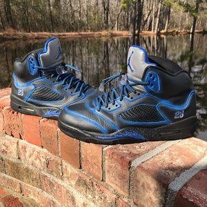 Custom Jordan 5s size 13